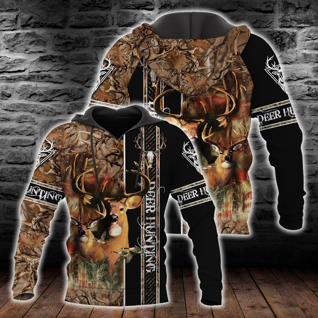 Deer Hunting all over print shirts for Men and Women - luxamz