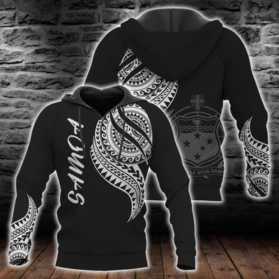 Samoa Polynesian cultural Black White with pattern All Over Print