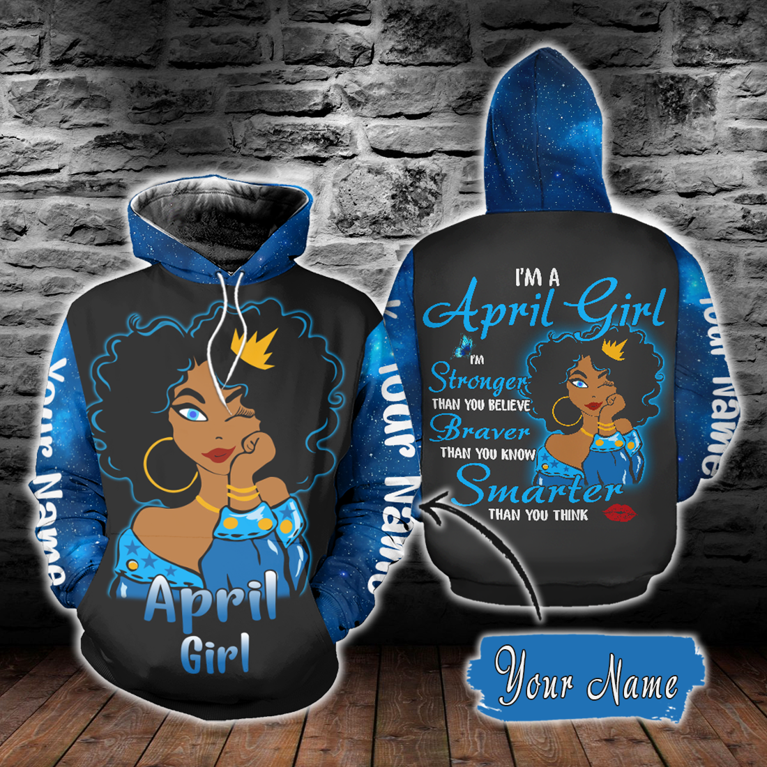 Personalized Name  April Girl 3D All Over Print - luxamz
