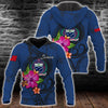 Samoa Polynesian Floral With Blue Seal all over print