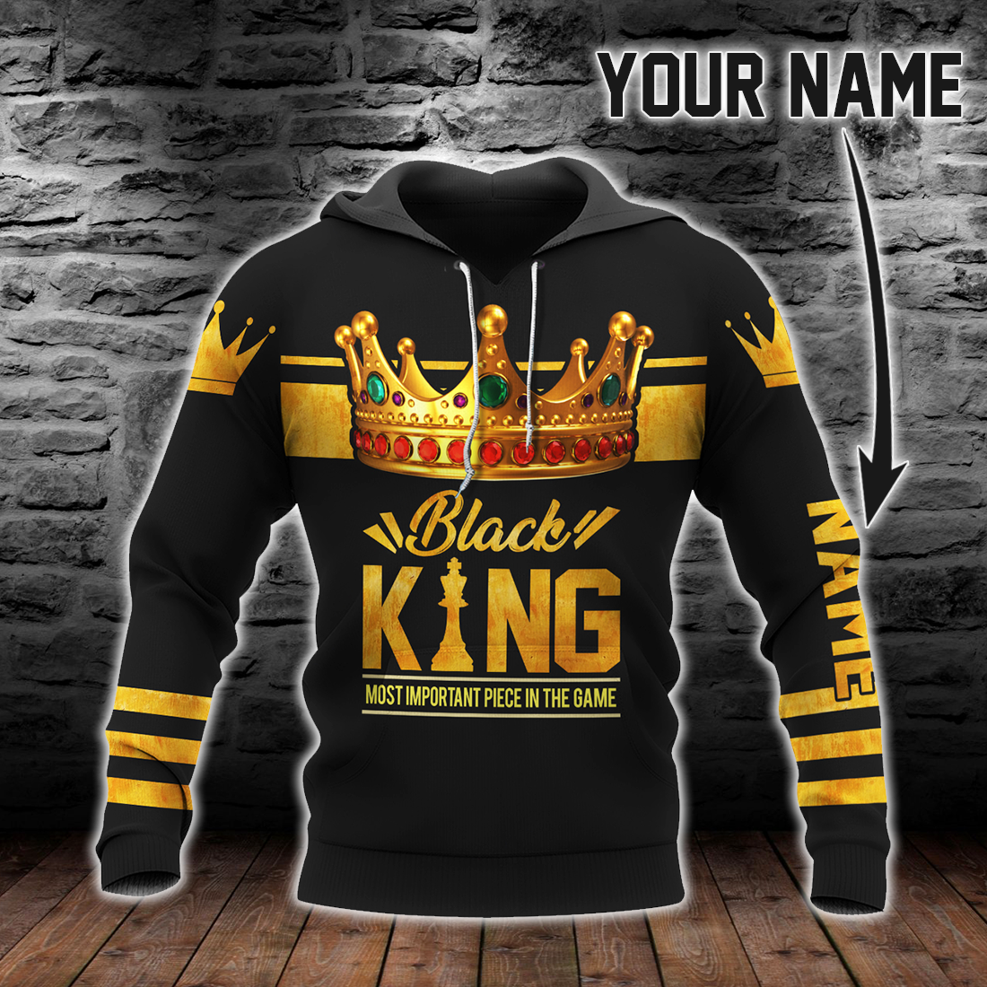 Multicolor Black King Most Important Piece In The Game All Over Print