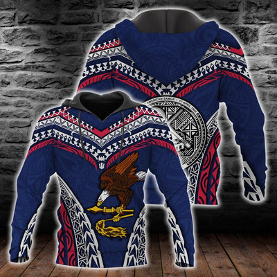 American Samoa Warrior Style Polynesian Pattern All Over Print - luxamz