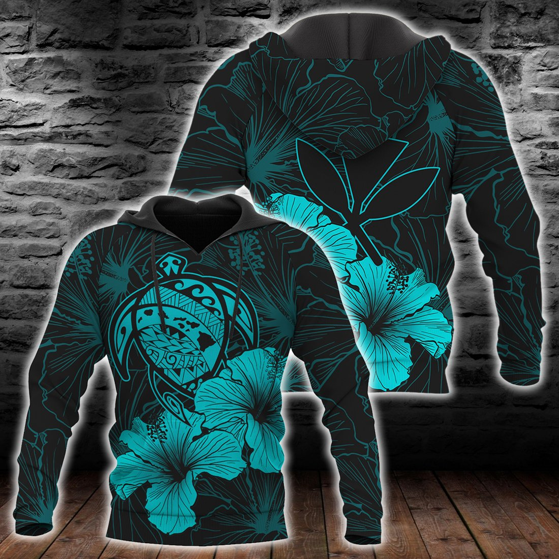 Hawaii Hawaiian Polynesian Turquoise all over print - luxamz