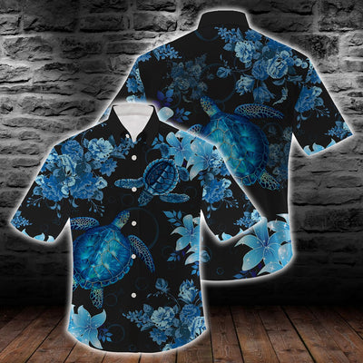 Blue Sea Turtle Hawaiian Shirt For Hot Summer
