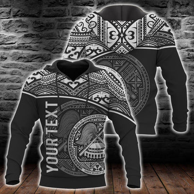 Polynesian American Samoa Personalised Custom Hoodie white all over print - luxamz