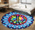 Hippie Round carpet all over print