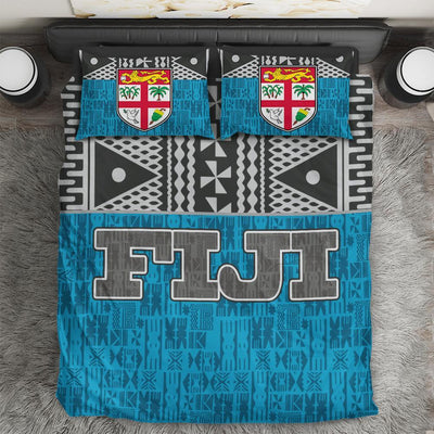 Fiji Tapa Polynesian Blue Bedding set All Over Printed