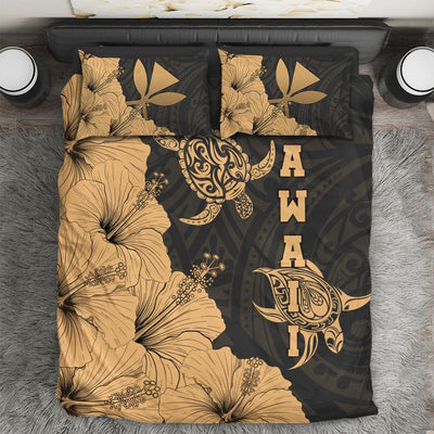 Hawaii Turtle Clothing Polynesian Hibiscus ArtAll Over Printed - luxamz
