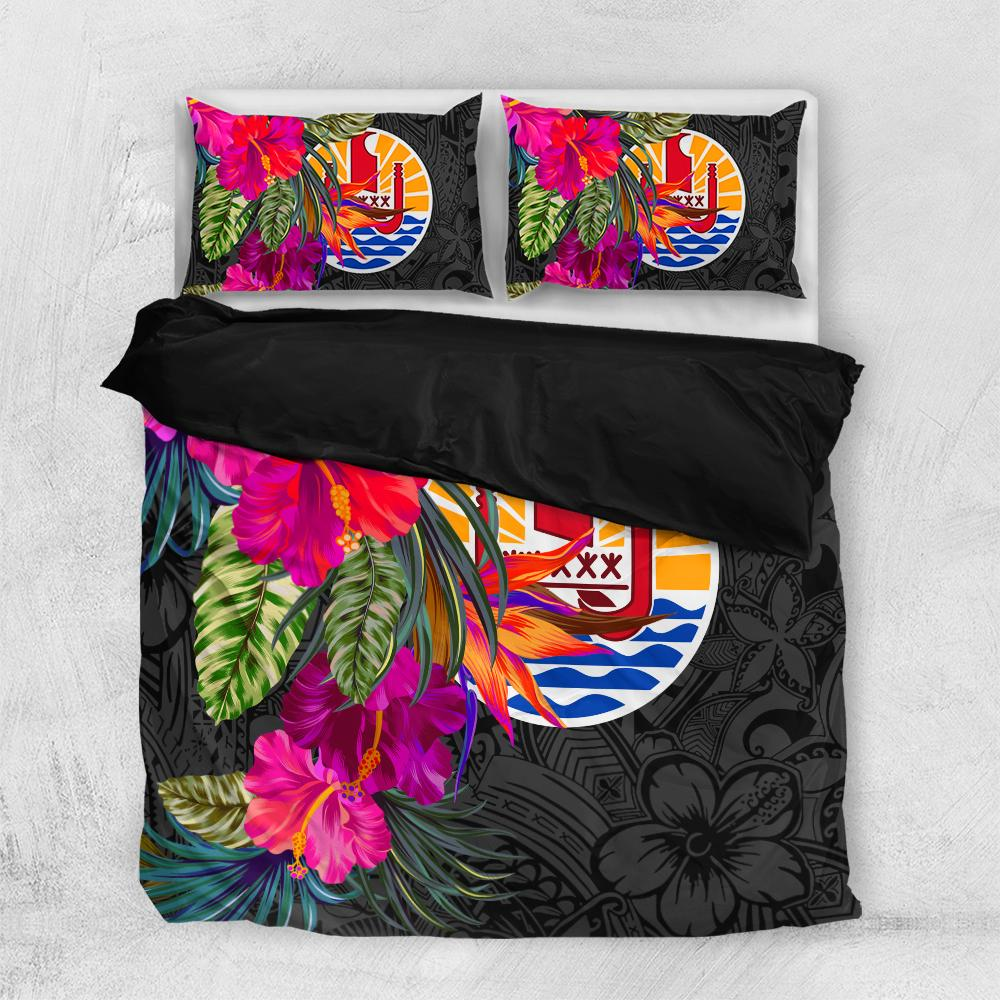 TAHITI Hibiscus Polynesian Pattern Bedding Set All Over Printed