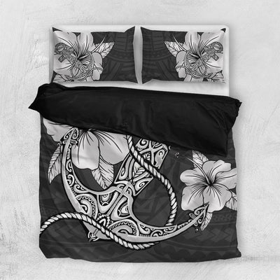 Hawaiian Anchor And Hibiscus Polynesian Bedding Set All Over Printed