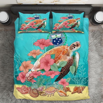 Polynesian Samoa Ocean Turtle Hibiscus bedding set All Over Printed