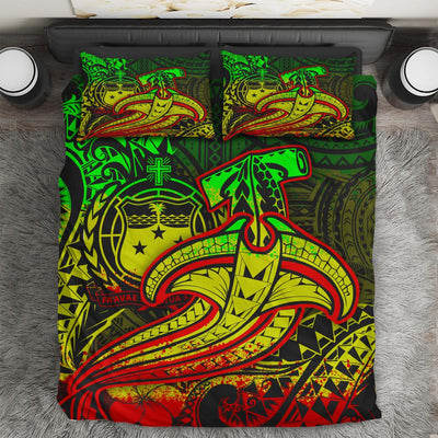 Samoa Reggae Shark Polynesian Tattoo Bedding Set All Over Printed
