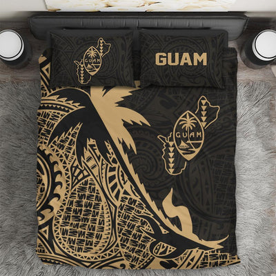 Guam Coconut palm Gold tropical polynesians Bedding Set All Over Printed - luxamz