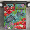 Kanaka Maoli Hawaiian - Polynesian Turtle Hibiscus And Seaweed Bedding Set All Over Printed - luxamz