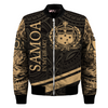 Samoa In My Heart Style Polynesian Patterns Gold Color all over print