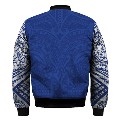 Samoa Polynesian Gold Heart Shield Blue all over print