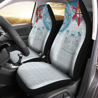 Fiji Polynesian Flag with Coat of Arms Car Seat Cover