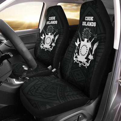 COOK ISLANDS FLAG COAT OF ARMS POLYNESIAN HOODIE Car Seat Cover - luxamz
