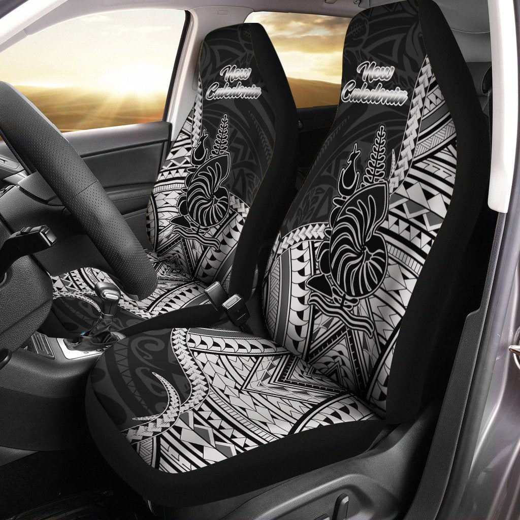New Caladonia Seal Of New Caledonia Islands Polynesian Patterns Car Seat Cover - luxamz