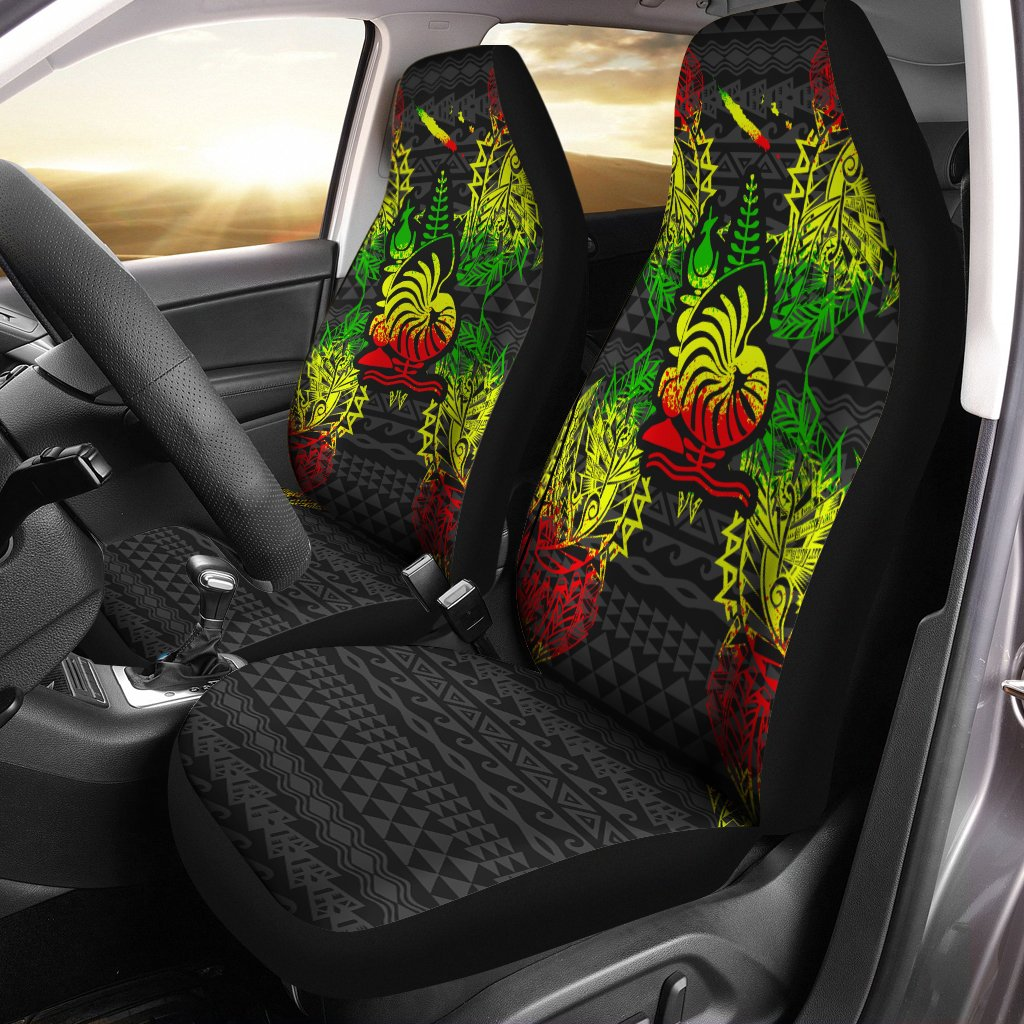 New Caledonia Polynesian Men_s Bomber Jacket Map Reggae Car Seat Cover - luxamz