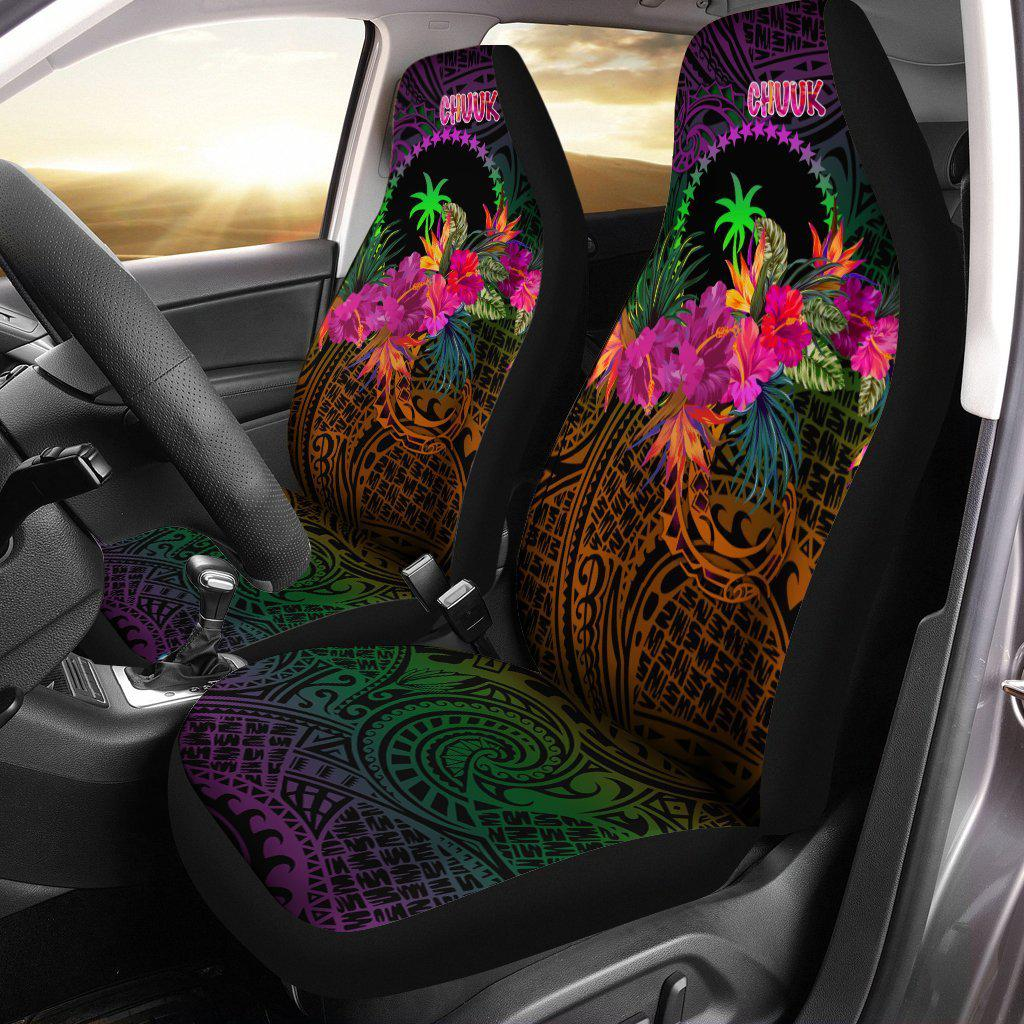Chuuk Personalised Summer Hibiscus Car Seat Cover