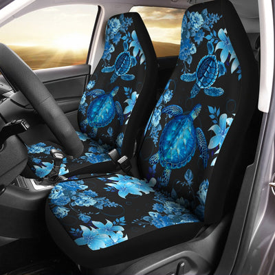 Blue Sea Turtle Hawaiian Shirt Car Seat Cover - luxamz
