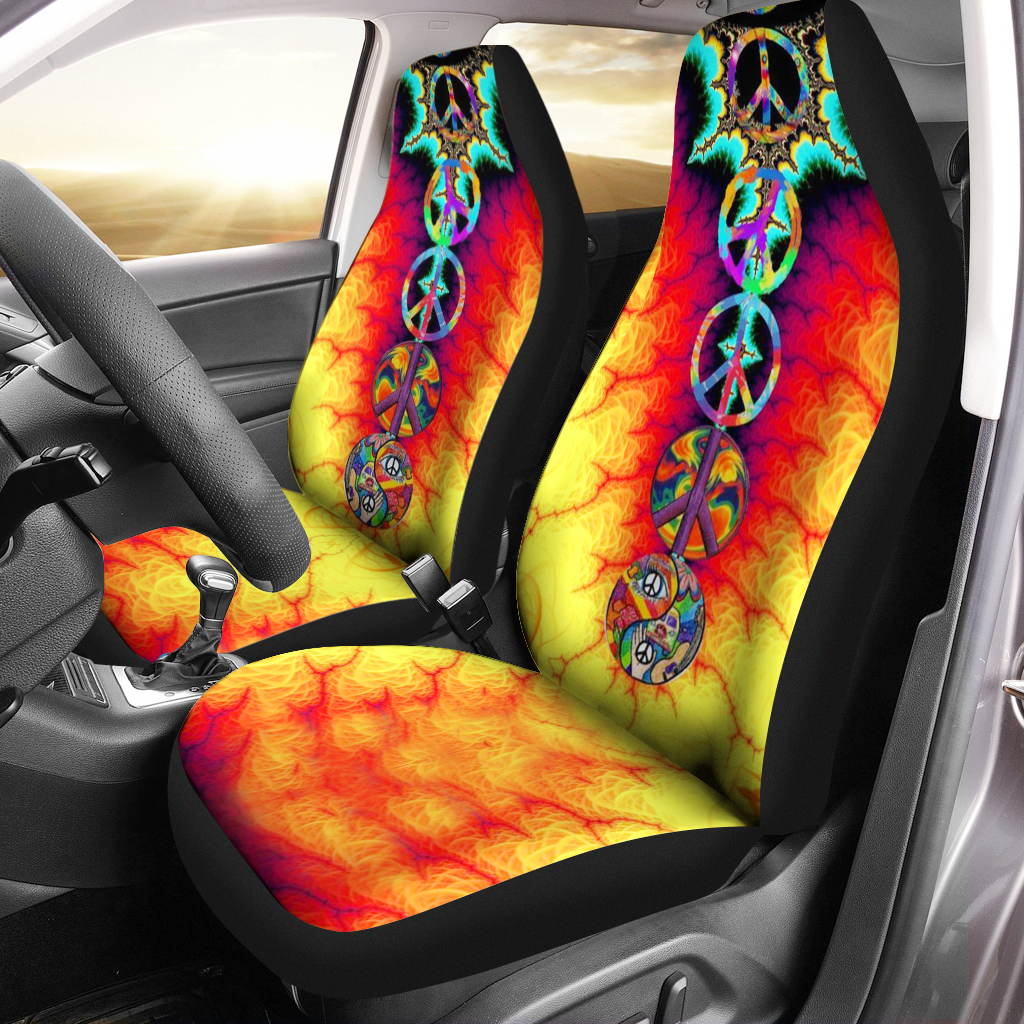 Hippie Awesome Car Seat Covers - luxamz