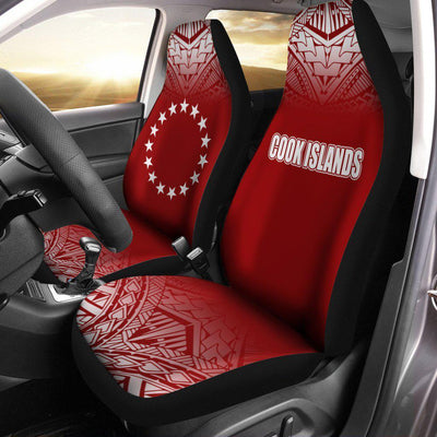 Cook Islands Fog Red Car Seat Cover