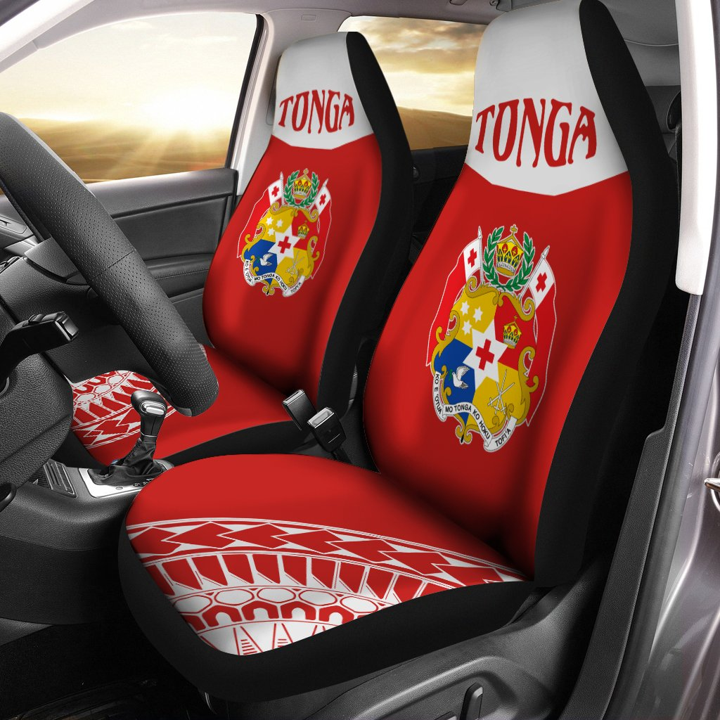 Tonga Coat Of Arms Polynesian Tattoo Sport Style Car Seat Cover - luxamz