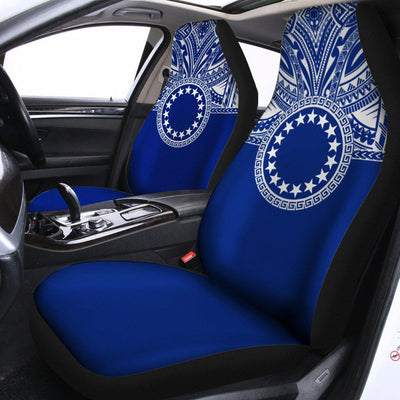 Cook Islands Polynesian Flag Color royal blue Car Seat Cover