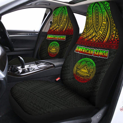 American Samoa All Over Custom Personalised Car Seat Cover - luxamz