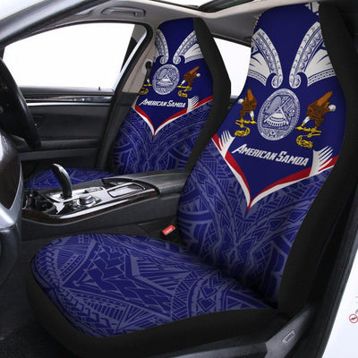 American Samoa Powerful Flag Seal Polynesian Car Seat Cover