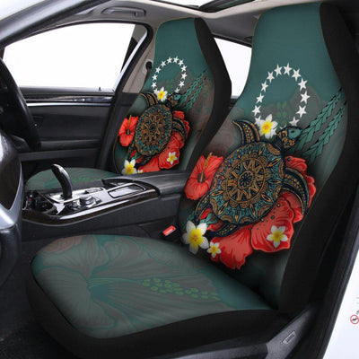 Cook Islands Blue Turtle Tribal Car Seat Cover