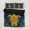Hawaii Turtle Honu And Pillow With Moon Pattern Bedding Set All Over Printed