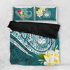 Samoa Polynesian  Summer Plumeria Bedding Set All Over Printed