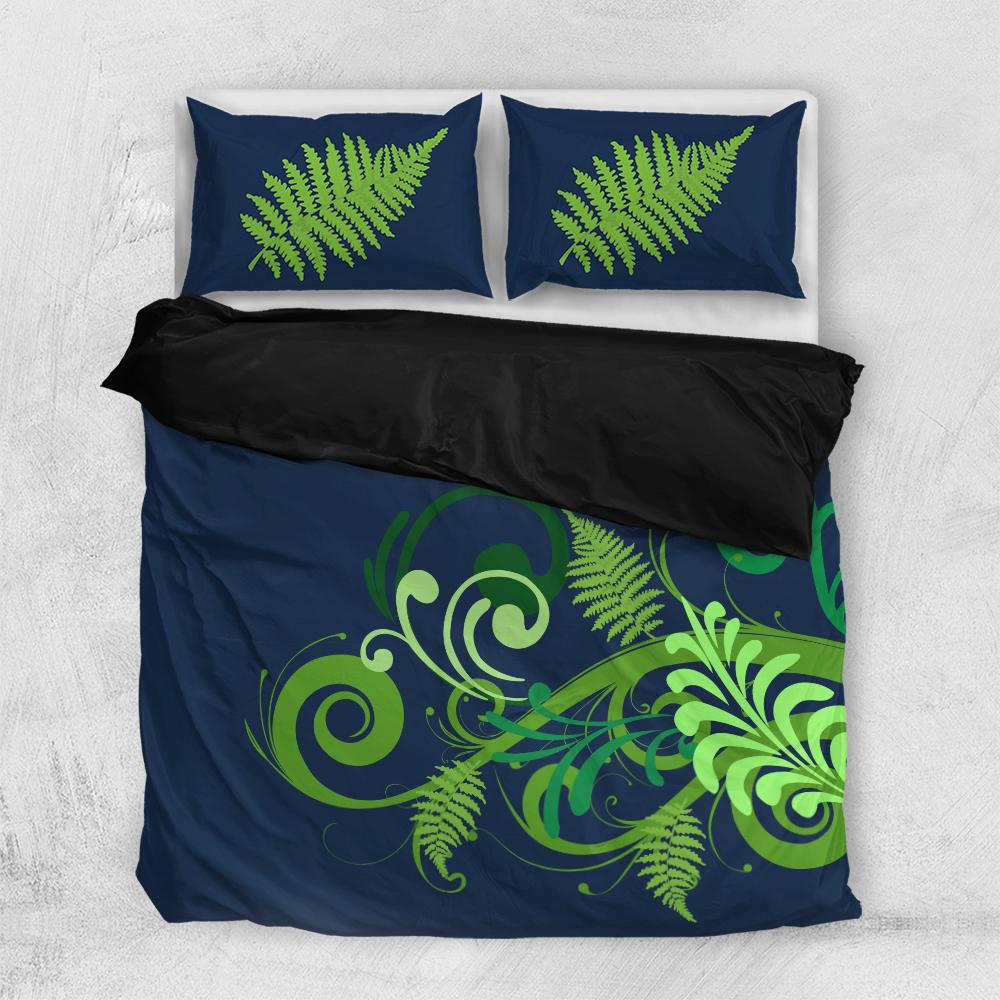New zealand tropical forest and flower Bedding Set All Over Printed