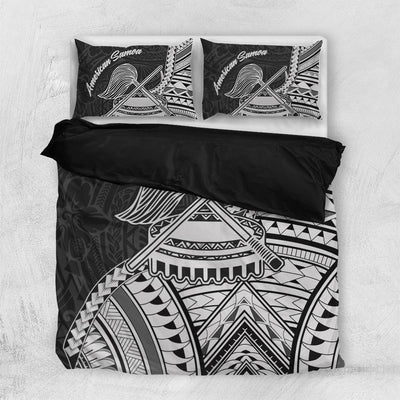 American Samoa T-Shirt - Futiga Polynesian Patterns Bedding Set All Over Printed