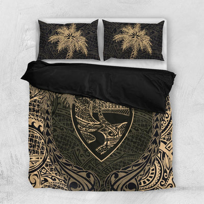 Guam Coat Of Arms Coconut Bedding Set All Over Printed - luxamz