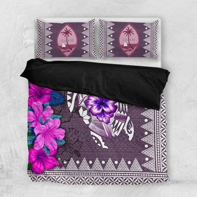 Polynesian Guam Turtle Hibiscus Bedding Set All Over Printed - luxamz