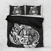 Polynesian Samoa Father And Son Black Bedding Set All Over Printed - luxamz