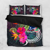 Polynesian Samoa Tropical Flowers Bedding Set All Over Printed - luxamz