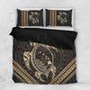 Hawaiian Map Tribal Mask Turtle Polynesian Bedding Set All Over Printed - luxamz