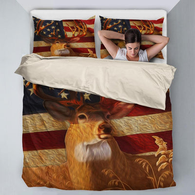 whitetail deer lover hunting Bedding Sets All Over Printed