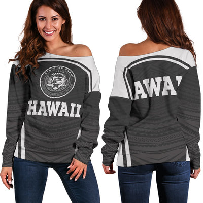 Hawaii Polynesian Sport Style Off Shoulder Sweater