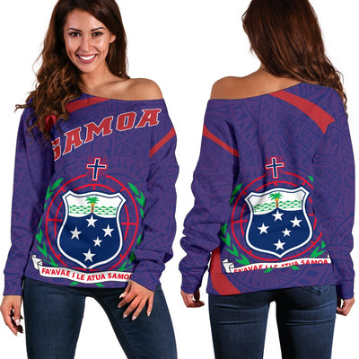 Samoa Hoodie Diamond Style Shoulder Sweater - luxamz