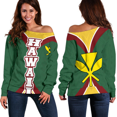 HAWAII OLYNESIAN IMPACT VERSSION Shoulder Sweater