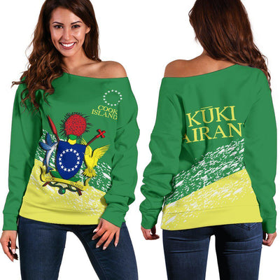 KUKI AIRANI COOK ISLANDS SPECIAL Shoulder Sweater - luxamz