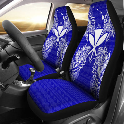 Polynesian Hawaii Blue Car Seat Covers - luxamz