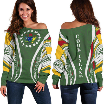 Cook island Seal Polynesian Stylized Shoulder Sweater