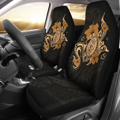 Hawaii Turtle and Hibicus Flower Polynesian Car Seat Covers